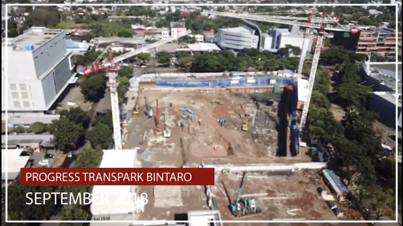 progress trans park bintaro bulan september