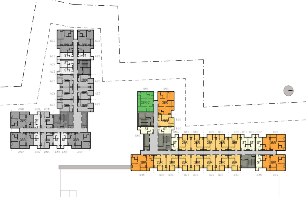 floor plan Trans Icon design Tower