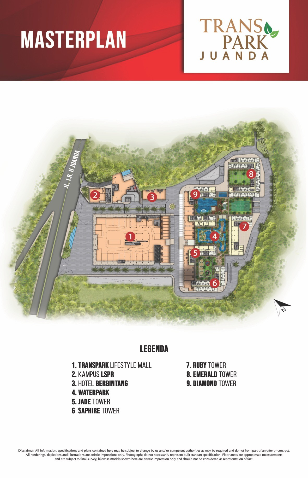 site plan tower emerald